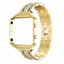 Outsta For Fitbit Blaze <b>Luxury</b> Alloy <b>Crystal Watch Band</b> Wrist Strap ...