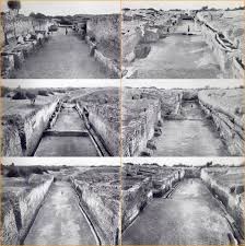 first street mohenjo daro looking down is going back in time what you see on top are later sections