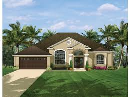 Mediterranean Modern House Plan   Square Feet and    Front