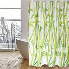 POLYESTER SHOWER CURTAIN <b>180</b> X 200 CM - <b>BAMBOO</b>