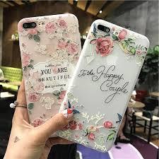 Цитирует цветок телефон дела для iPhone 7 7plus 6 6s плюс 5 <b>g</b> ...