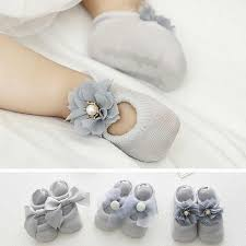 <b>3 Pairs</b>/<b>Lot</b> Lace Flower <b>Newborn Baby Socks Cotton</b> Anti Slip Kids ...