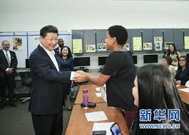 Xi Jining Visits Lincoln High School in Tacoma of US