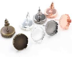 12mm <b>10pcs</b> Light Silver Plated French Lever Back <b>Earrings Blank</b> ...