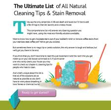 the ultimate list of all natural cleaning tips and stain removal