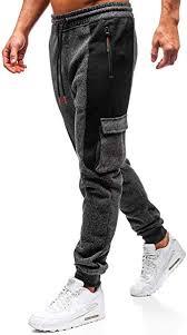 BOLF <b>Men's</b> Plain <b>Sweatpants</b> Joggers <b>Pants</b> Drawcord <b>Gym Sport</b> ...