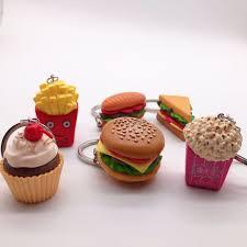 <b>2019 New</b> Fashion Creative Cute Burger Fries Sandwich <b>Keychain</b> ...