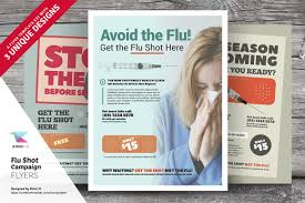 flu shot campaign flyer templates flyer templates on creative market