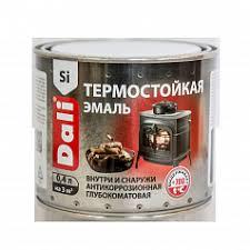 <b>Эмаль термостойкая DALI</b> Черная 0,4л