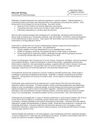 cover letter template for profile resume samples summary examples gallery of resume profile template