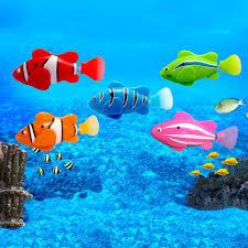 【OMB】<b>Mini Bath Toy Bionic</b> Fish Swimming Magical Le Bao Fish ...