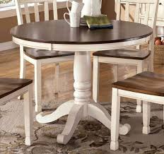 Distressed White Kitchen Table Round White Dining Table 86 With Round White Dining Table Home