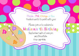 artist invitation art painting birthday party invitations art party printable or digital file