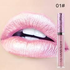 <b>HANDAIYAN</b> 6 Color <b>Diamond</b> Liquid Pearly <b>Glitter</b> Lipsticks Long ...