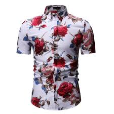 Summer new <b>men's casual short</b>-<b>sleeved</b> floral shirt – ZipJosh.com