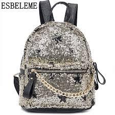 2019 <b>hot sale</b> women mini backpack with sequins female <b>PU</b> leather ...