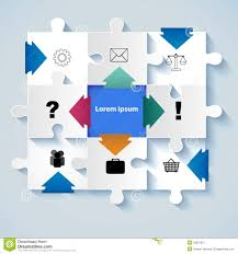 puzzle with icons for business concepts business concepts