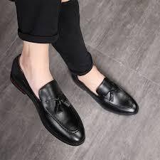 <b>2018 New</b> Fashion <b>Handmade</b> Tassel Loafers Black Bottom ...