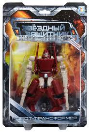 <b>1TOY Робот</b>-<b>трансформер</b> Звездный защитник самолет 12 см ...