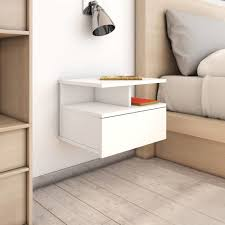 <b>Floating Nightstands 2</b> pcs White 40x31x27cm Chipboard -