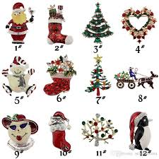 <b>Christmas Theme Brooch Pin</b> Gift Beautiful Multi-colored Metal ...