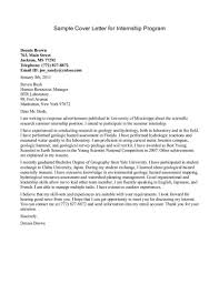example of cover letters informatin for letter example cover letter for internship picture kickypad resume