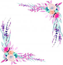 Corner border frame with <b>simple abstract</b> watercolor <b>pink</b> and purple ...