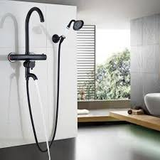 thermostatic brand bathroom: oil rubbed bronze bath amp shower mixer faucet with thermostatic dual handles water tapschina
