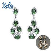 2019 <b>Bolaijewelry</b>,<b>Zultanite</b> Big Earrings <b>925 Sterling</b> Silver Created ...