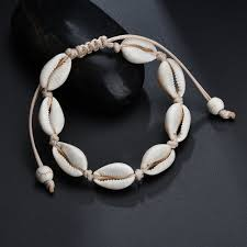 1pc <b>Hot Sale Handmade Natural</b> Seashell Hand Knit Bracelet Shells ...