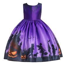 Girl <b>Kids Costume</b> Cartoon Pattern Printing Full Dress for <b>Festival</b> ...