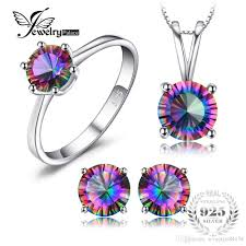 2019 <b>Natural Rainbow Fire Mystic</b> Topaz Pendants Rings Earrings ...