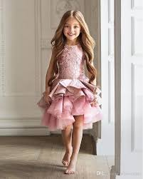 <b>Gorgeous Pink Toddler Flower</b> Girl Dress For Wedding A-line Knee ...