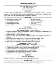 best receptionist resume example   livecareerreceptionist resume example