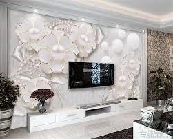 <b>Beibehang Wallpaper</b> Wall 3 D High <b>Quality</b> Relief Flower TV ...