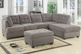 Image Of Lovable Bobs Living Room Furniture Including Slipcovered Sectional Sleeper Sofa With Tufted Trend  U