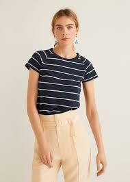 Хлопковая <b>футболка в полоску</b> - <b>Футболки</b> и топы - Женская ...
