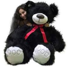 5 Foot <b>American</b> Made Giant Black Teddy Bear <b>62 Inches</b> Soft Made ...