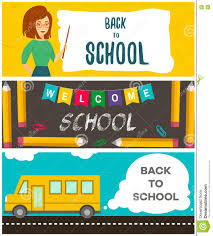 set of back to school flyers template for back to school set of back to school flyers template for back to school vector illustration