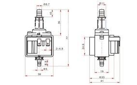 YIMAKER <b>Micro</b> 33DSB <b>Electromagnetic</b> Water <b>Pump</b> AC220V 16W ...