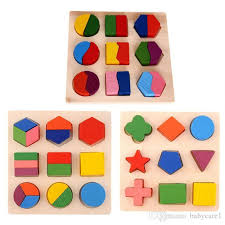 2019 <b>Kids Baby Wooden Learning</b> Geometry Educational Toys ...