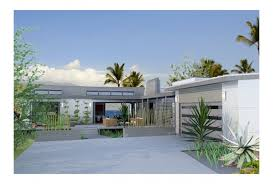 ePlans Contemporary House Plan   Hummingbird h  Form  Meet    Front  EP