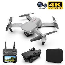 <b>E88</b> pro <b>drone 4k</b> HD dual camera visual positioning 1080P WiFi fpv ...