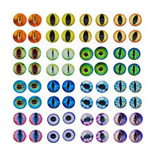 <b>50PCS</b> 6MM Round Glass Dragon Cat Eye Craft <b>Cabochon Cameo</b> ...
