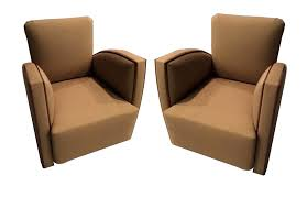 pair of french art deco club chairs art deco chairs