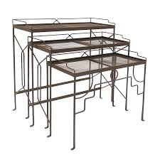 achla designs wrought iron wrought iron patio nesting tables achla designs wrought iron
