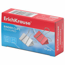 Купить <b>Зажимы для бумаг</b> ERICH KRAUSE, КОМПЛЕКТ 12 шт., 19 ...