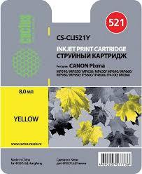 <b>Картридж Cactus CS</b>-<b>CLI521Y</b>, желтый, для струйного принтера ...
