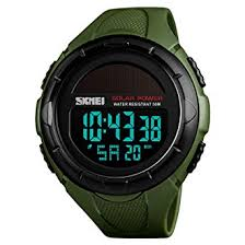 Buy SKMEI <b>Men's</b> Solar Digital Sports <b>Watch</b>, <b>50M Waterproof</b> ...
