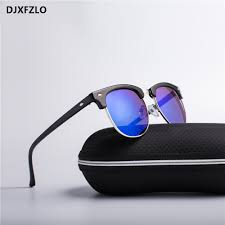 DJXFZLO 2020 <b>Half Metal</b> Fashion <b>New</b> Sunglasses Men/<b>Women</b> ...